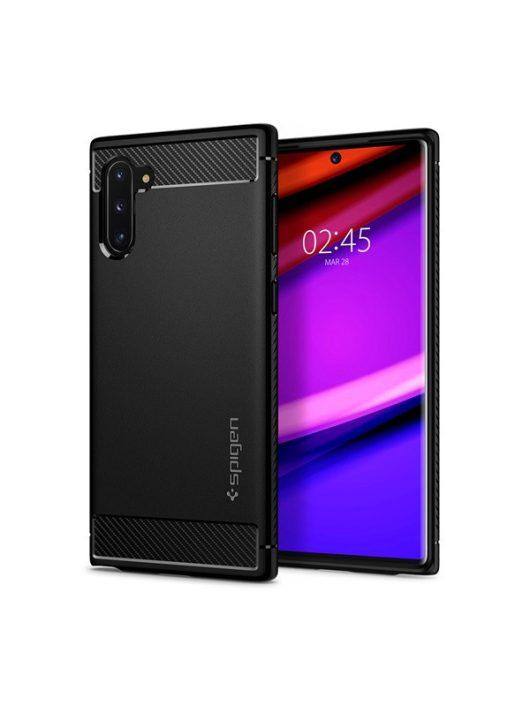 Spigen Rugged Armor Samsung Galaxy Note 10 Matte Black tok, fekete