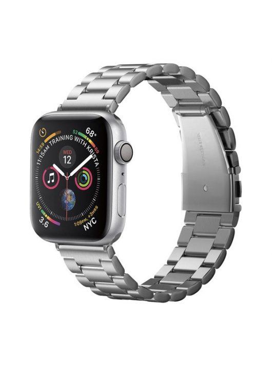 Spigen Modern Fit Apple Watch 44/42mm fém szíj, ezüst