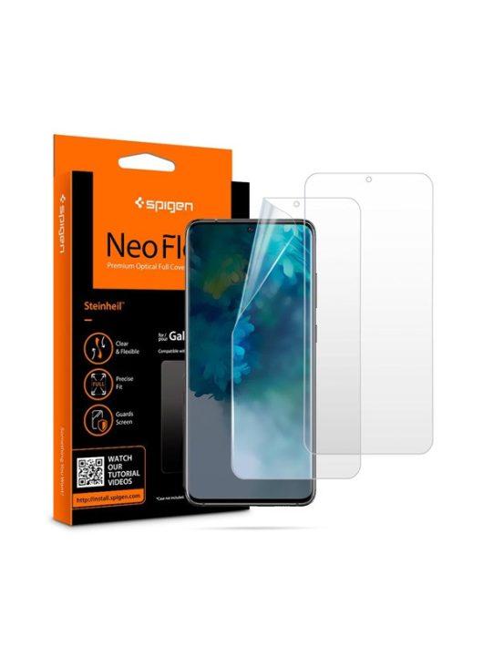 Spigen Neo Flex HD Samsung Galaxy S20 hajlított kijelzővédő fólia, (2db előlapi)*