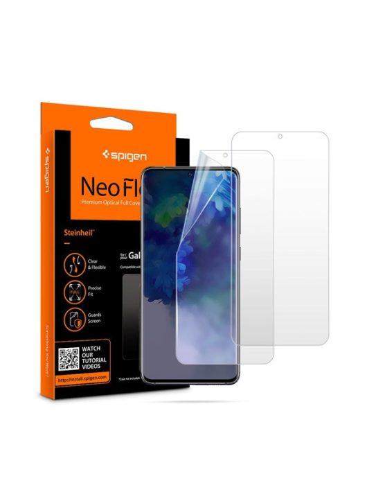 Spigen Neo Flex HD Samsung Galaxy S20+ hajlított kijelzővédő fólia, (2db előlapi)*